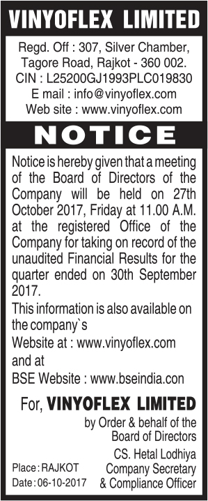Notice of September 2017