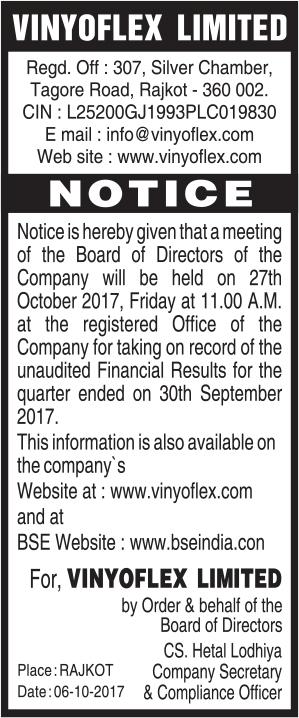 Notice of September 2017